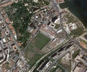 Nella foto aerea, l'Orto botanico e i nuovi spazi da riqualificare
